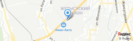 Засада на карте Алматы