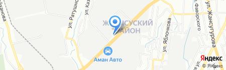 Столовая на проспекте Рыскулова на карте Алматы