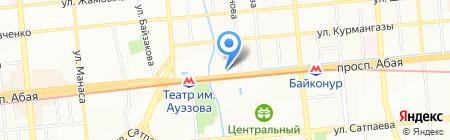 Нотариус Дремина Е.А. на карте Алматы
