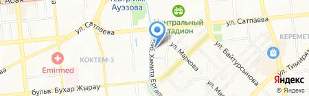 Натали Турс Казахстан на карте Алматы