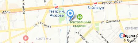 Федерация футбола Казахстана на карте Алматы