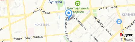 Апасиак на карте Алматы