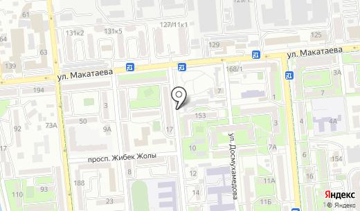 Abultayev Auto Service. Схема проезда в Алматы