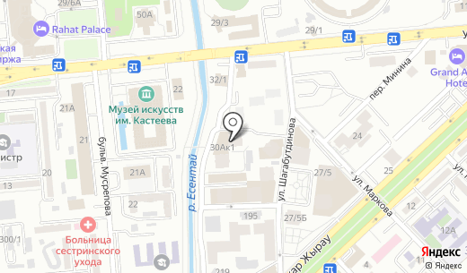 Elite. Схема проезда в Алматы