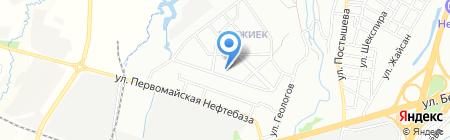 Мастерская по ремонту обуви на ул. Кокжиек микрорайон на карте Алматы