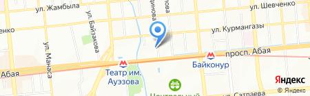 Алатау-S на карте Алматы