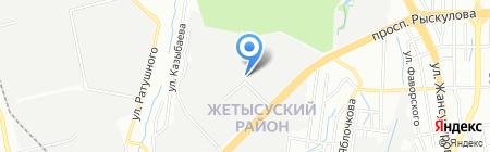 Юнистил-Металлопрокат на карте Алматы
