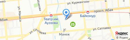 Федерация тенниса на карте Алматы