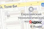 Схема проезда до компании Eurospeak.KZ в Алматы