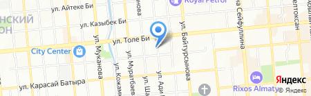 KV на карте Алматы