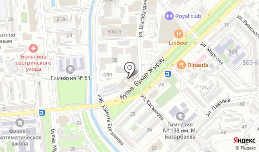 TRUST-S. Схема проезда в Алматы