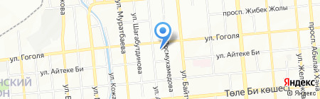 Данашым на карте Алматы