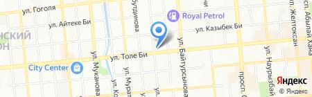 Гулянда на карте Алматы