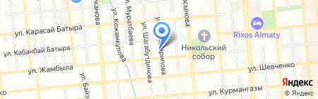 Нотариус Мамыр М.К. на карте Алматы