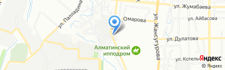 Май на карте Алматы
