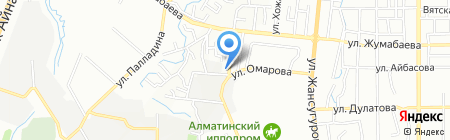 Долана на карте Алматы