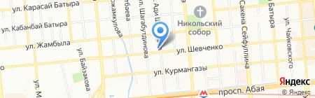 Гека на карте Алматы