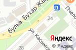 Схема проезда до компании FRONT МЕБЕЛЬ в Алматы