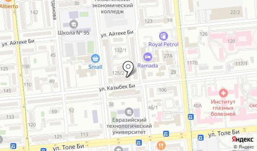 Мечта жилой комплекс. Схема проезда в Алматы