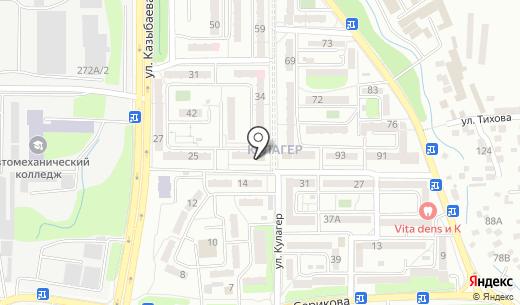 Коктурик. Схема проезда в Алматы
