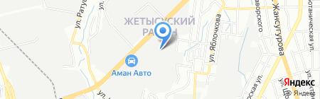 Фабрика химчистки и крашения одежды на карте Алматы