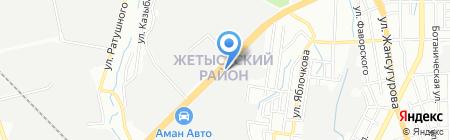Авто-Альянс на карте Алматы