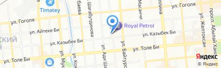 Денежный магнит на карте Алматы