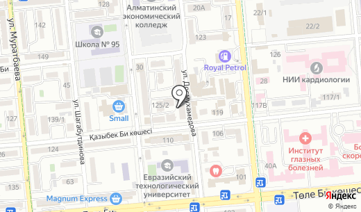 E-STUDIO. Схема проезда в Алматы