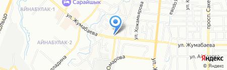 Манзура на карте Алматы