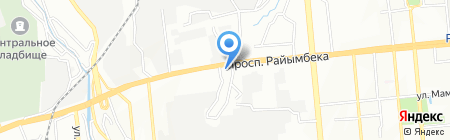 Жетысуский районный отдел по ЧС на карте Алматы