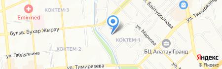 Калиточка на карте Алматы