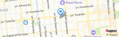 Казыбек на карте Алматы