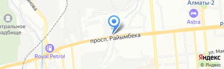 Столовая на проспекте Райымбека на карте Алматы