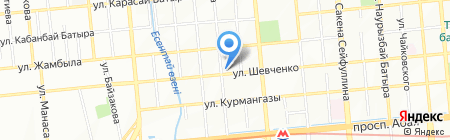Нотариус Капарова Н.К. на карте Алматы