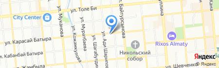Адвокатская контора Кусаиновой Ж.Ж. на карте Алматы