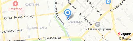 Продукты продовольственный магазин на карте Алматы