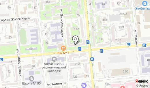 Рекламатрест-1996. Схема проезда в Алматы