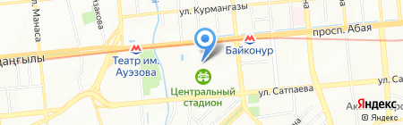 Центральный стадион на карте Алматы