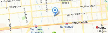 Аптека на ул. Ади Шарипова на карте Алматы
