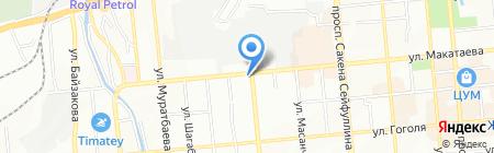 Гемма-Тур на карте Алматы