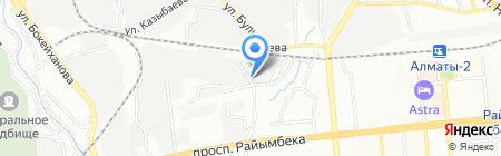 Нуртау Темир на карте Алматы
