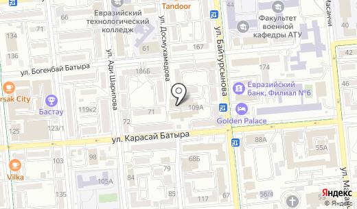 Отдел миграционной полиции УВД Алмалинского района г. Алматы. Схема проезда в Алматы