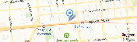 Нурстом на карте Алматы