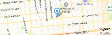 Клаксон на карте Алматы