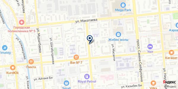 Центр красоты и здоровья Майя Манеза на карте Алматы