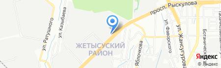 СТО на проспекте Рыскулова на карте Алматы