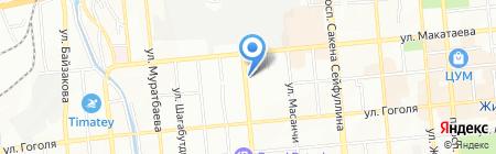 Золотая игла на карте Алматы