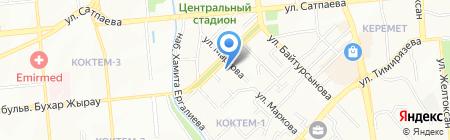 Городская студенческая поликлиника на карте Алматы