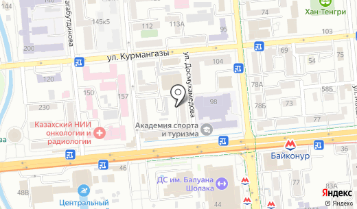 Nail Lure. Схема проезда в Алматы