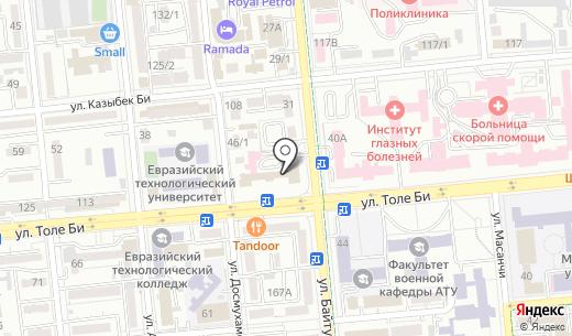 TBWA. Схема проезда в Алматы